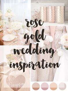 rose gold wedding style board