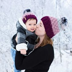 100% Wool Mommy and Me Toques Perfect winter photography!