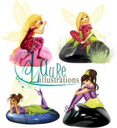 mes illustrations de fées sur des pierres précieuses Laura Lee, Album Jeunesse, Illustrations, Gnomes, Fairies, Images, Movie Posters, Drawings, Paper Envelopes