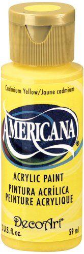 DecoArt Americana Acrylic Paint, 2-Ounce, Cadmium Yellow DecoArt http://www.amazon.com/dp/B000XZTKL2/ref=cm_sw_r_pi_dp_M2Pxwb05SD20M