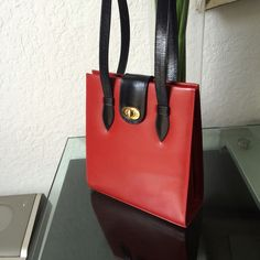Genuine Leather Shoulder Bag Claudina made in Brazil. Really perfect condition.  All Leather with black lining. 3 inside divisions. Measures 12W 8H 3.5D Bags Shoulder Bags