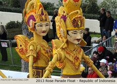 Republic of Indonesia 2013 Rose Parade Float Picture