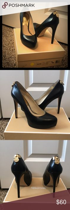 "Michael Kors pumps Black Michael Kors pumps in black leather. Size 7.5 featuring 4.5"" heel. Brand new in box! Smoke free/pet free home. Bought on clearance for $122, yours for $60! MICHAEL Michael Kors Shoes Heels"