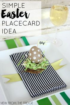 Simple Easter Placecard Idea | View From The Fridge