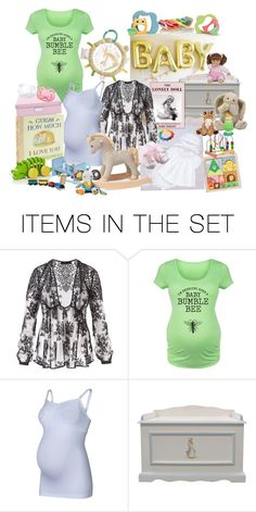 """EXPECTING BABY"" by lizzyslegs ❤ liked on Polyvore featuring art"