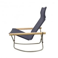 "Designed by Takeshi Nii, the Ny Chair was inspired by traditional director's chairs, and similar fabric chairs from Denmark. The chair is named for his family name—Ni-i—as well as the Danish word for ""new""—ny. The folding chair certainly recalls the ease and simplicity of the director's chair, but the curving frame and modern silhouette make the Ny Chair a distinctly contemporary piece. The fabric seat has a welcoming, hammock-like effect, making the chair a relaxing option in a living room…"