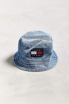 94d9b0e5 Tommy Jeans '90s Sailing Denim Bucket Hat #affiliatelink Bucket Hat Outfit,  90s Hats