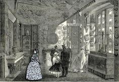 Mocked up image of Charlotte Bronte visiting the Soane Museum