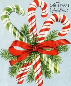 Vintage Candy Canes. For some reason this just reminds me of old Xmas decor that my Grandmother used to have. I miss those days!