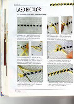 Resultado de imagen de bordados con cintas de seda