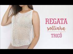 Mode Crochet, Diy Crochet, Crochet Top, Crochet Diagram, Filet Crochet, Crochet Patterns, Crochet Summer Tops, Summer Knitting, Crochet Blouse