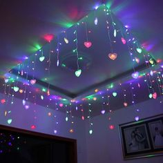 4M 100 LED Garlands Heart Shape Christmas Xmas Curtain String Light Lighting Wedding Party Marriage Room Window Decoration