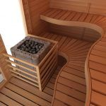 SAWO, Inc. is the first major European sauna company, which has started manufacturing in Asia in year Finnish management and key employees in the production guarantee the top quality that SAWO is known for. Sauna Room, Spa, Saunas, Curved Lines, Sitting Area, Sliding Glass Door, Bench, Waves, Indoor