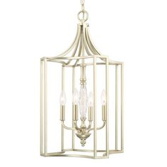 Seaton Soft Gold Four-Light 16-Inch Wide Foyer
