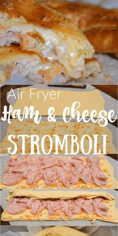 Air fryer ham and cheese stromboli Air fryer ham and cheese stromboli Air Fryer Dinner Recipes, Air Fryer Recipes Easy, Oven Recipes, Cooking Recipes, Burger Recipes, Kitchen Recipes, Cake Recipes, Stromboli Recipe, Pizza