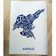 Plakat over Århus - Kortkartellet.dk