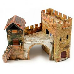 Old gate Knight On Horse, Fantasy Battle, Wargaming Terrain, House Doors, Medieval Town, Fortification, War Machine, Gate, Buildings