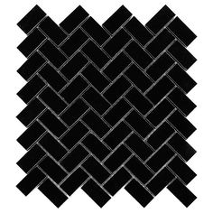 Pure Black HERRINGBONE 48 - DUNIN
