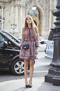 cute tweed jacket and skirt