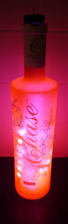 Chase Vodka Marmalade Recycled Bottle LED Battery Powered Portable Nightlight by RecycledDesignLondon on Etsy