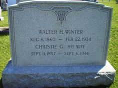 Genealogical Gems: Tombstone Tuesday: Walter & Christie Winter