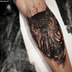 Awesome Owl Tattoo Design For All Time, In respect to placement, owl tattoos are incredibly flexible. If you're selecting an owl tattoo, you're probably going to have to discover the ideal d. Owl Forearm Tattoo, Owl Tattoos On Arm, Mens Owl Tattoo, Tattoos Bein, Maori Tattoos, Forearm Tattoo Design, Neue Tattoos, Diy Tattoo, Sleeve Tattoos