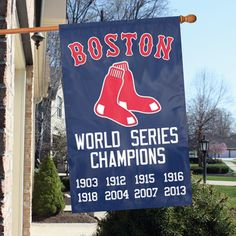 It's Spring! Time to hang your Boston Red Sox Championship Flag! Free Shipping!