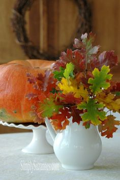 Simply Suzanne's AT HOME: Fall leaves from the mountains . . .