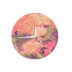 Keep track of time with this unique wall clock that has your favorite art! Made of a smooth compressed wood, this clock measures 12 inches across, and comes wit