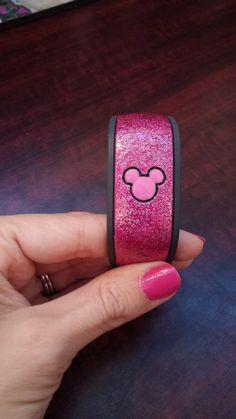 pink glitter - my magic band.