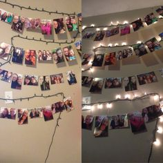 My new picture collage wall with pictures of my family and friends! I love it!!!❤️