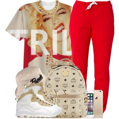 TRILL by oh-aurora on Polyvore featuring MCM and Jennifer Meyer Jewelry