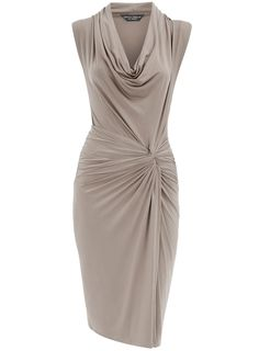 Taupe twist knot cowl dress - View All - Dresses - Dorothy Perkins United States