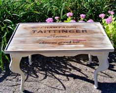 diy tranfer to make a wine crate table! cute!