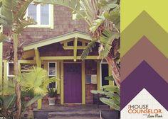 Eggplant Color Palette >> http://blog.hgtvremodels.com/2013/07/19/hue-knew-curb-appeal-with-a-purple-front-door/?soc=pinterest