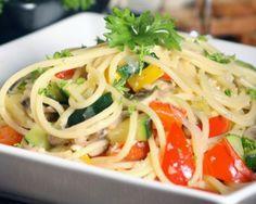 Spaghetti aux légumes rapide