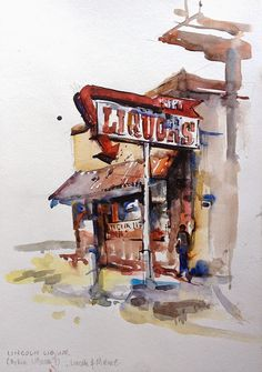 Hunting down vintage signs in San Jose, California | Urban Sketchers