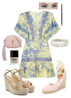 """""""Dress and Pastels"""" by toescape on Polyvore featuring BCBGMAXAZRIA, Sergio Rossi, Yves Saint Laurent, MAC Cosmetics, Chrysalis, Soludos and Butter London"""