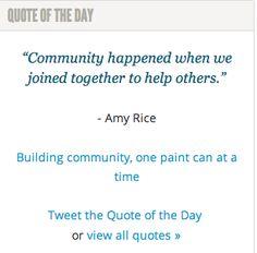 On community