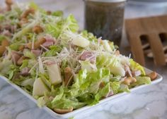 Pear- Cashew - Canadian Bacon Salad with Poppy Seed Dressing