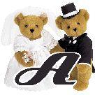Alfabeto de ositos casándose.
