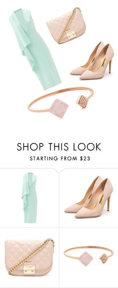 """Marvelously Mint"" by lexilovely ❤ liked on Polyvore featuring Cushnie Et Ochs, Rupert Sanderson, Forever 21, Michael Kors, Spring, DateNight, mint, springfashion and spring2016"