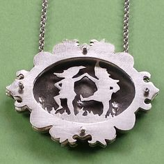 Laughing Gnomes, sterling silver shadowbox.