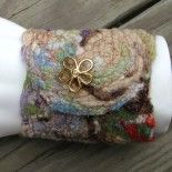 Repurposed Fiber Cuffs, Linen and /or cashmere/lambswool.  One of a kind.  Very limited on mischievouscarrot.com