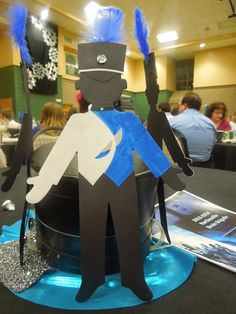 band Even though the marching band had rehearsal, some band parents came up with the brilliant idea Banquet Centerpieces, Banquet Decorations, Locker Decorations, Banquet Ideas, Marching Band Mom, Senior Night Gifts, Band Uniforms, Band Rooms, High School Band
