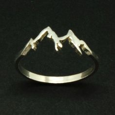 Sterling Silver Mountain Range Ring