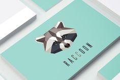 Raccoon logo mark by Polar Vectors on @creativemarket
