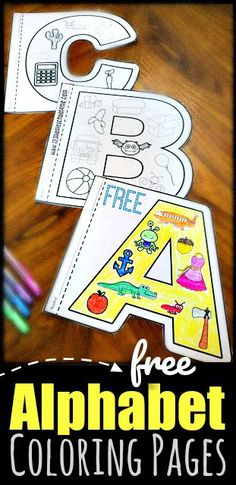 FREE Alphabet Coloring Pages – Kindergarten Worksheets and Games