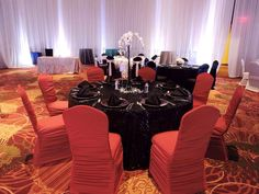 Bridal Showcase & Tasting Event 5.3.2015 @ Bloomington-Normal Marriott! We provided chair covers, table cloth, napkins, and dishware. #PalaceEvents