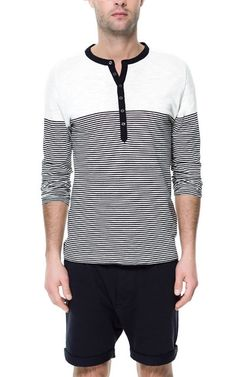 zara linen button neck t shirt gorgeous men. Black Bedroom Furniture Sets. Home Design Ideas